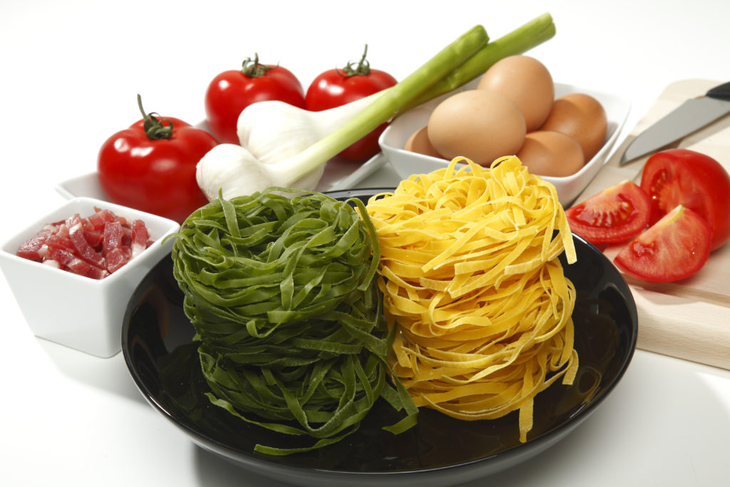 Tagliatelle, a traditional kind of Italian pasta